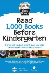 1000 Books Before Kindergarten_GeneralPoster.indd
