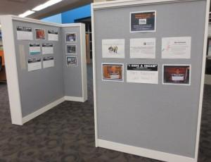 "Display on the ""T-Walls"" at the Iowa City Public Library"