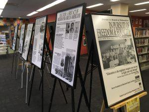 Posters on display in the library