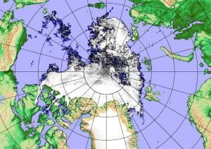 Arctic Sea Ice Satellite Image Sep 7 2016