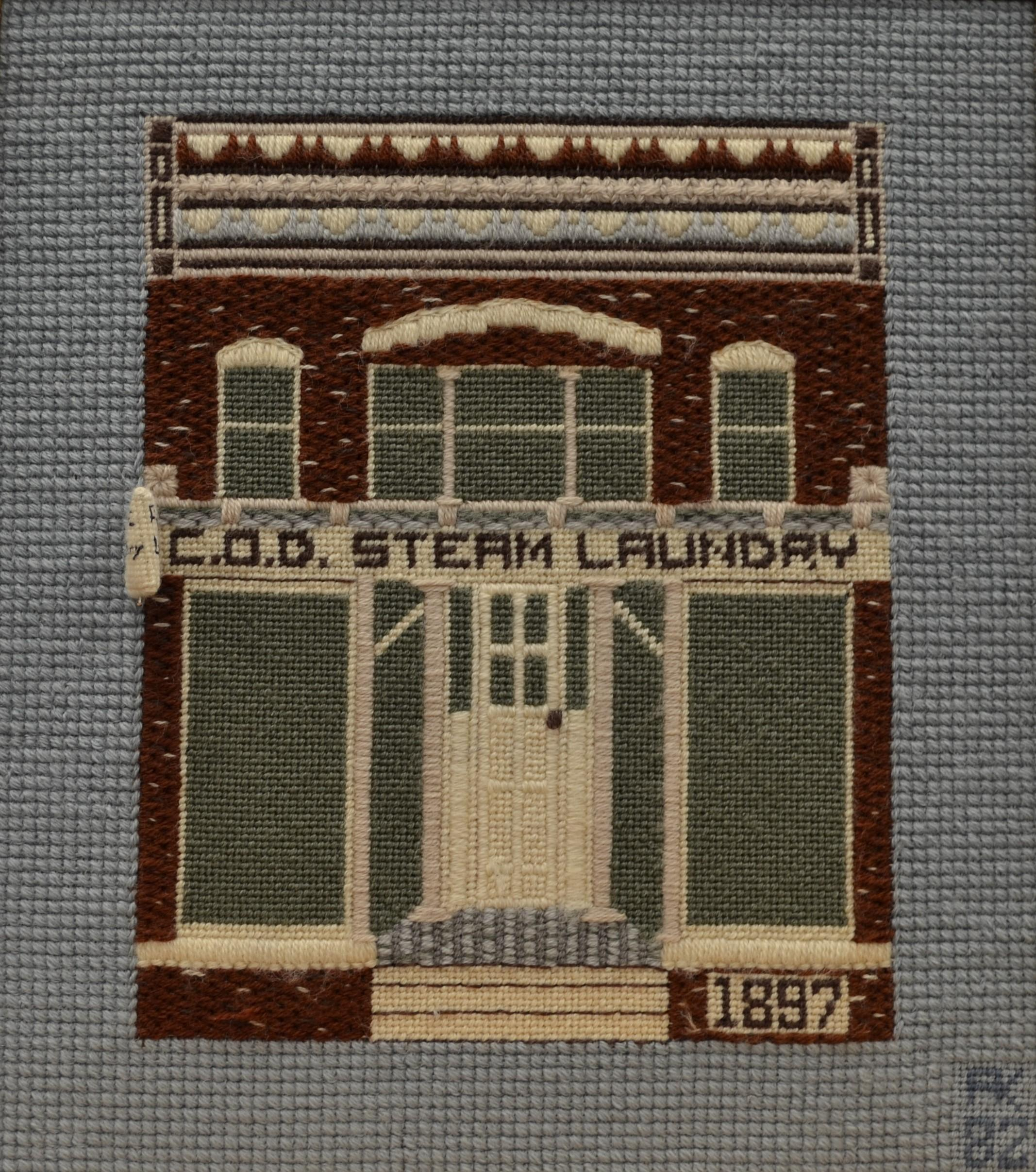 Needlepoint of the COD Steam building