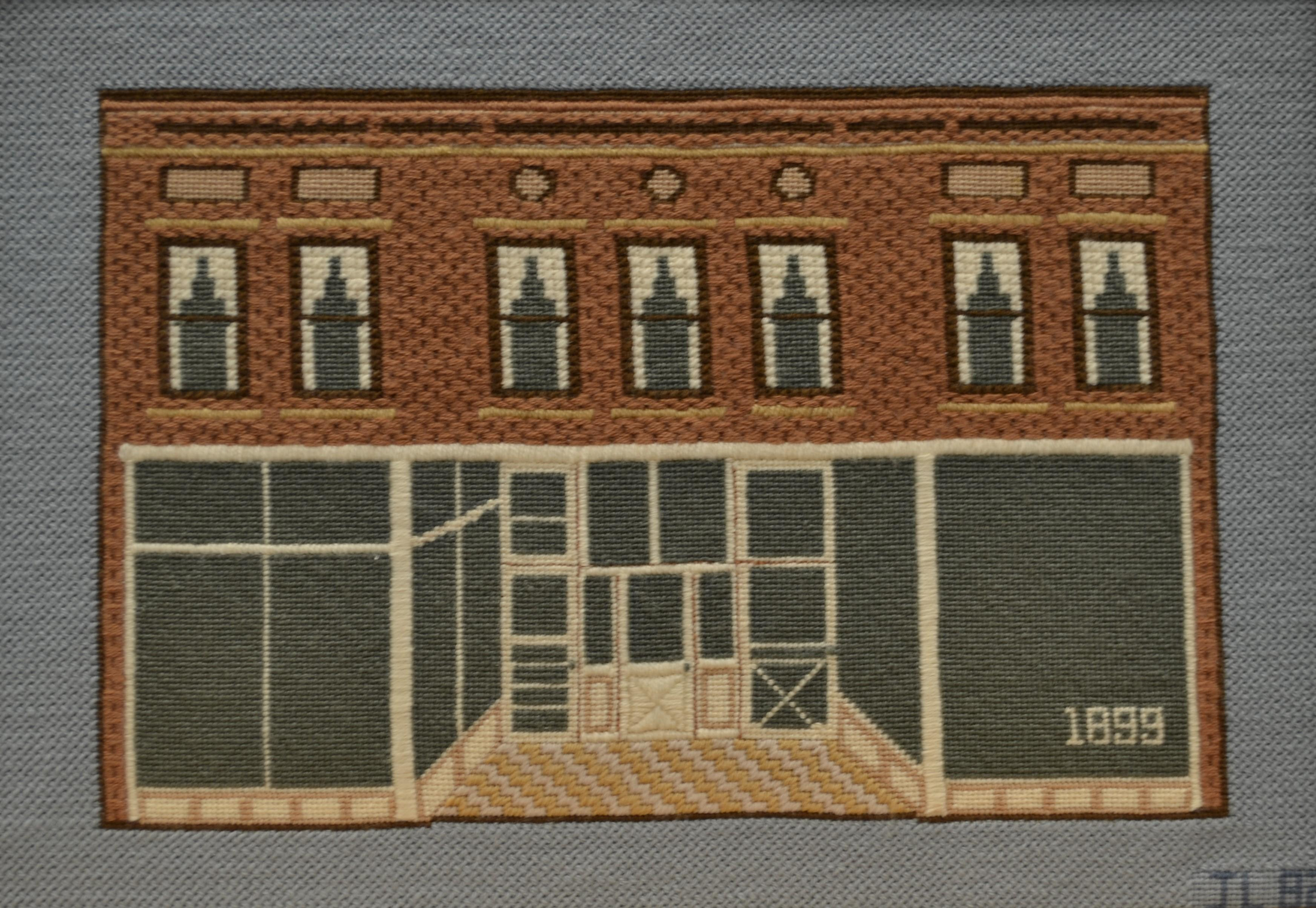 Needlepoint of the Cannon and Pratt building