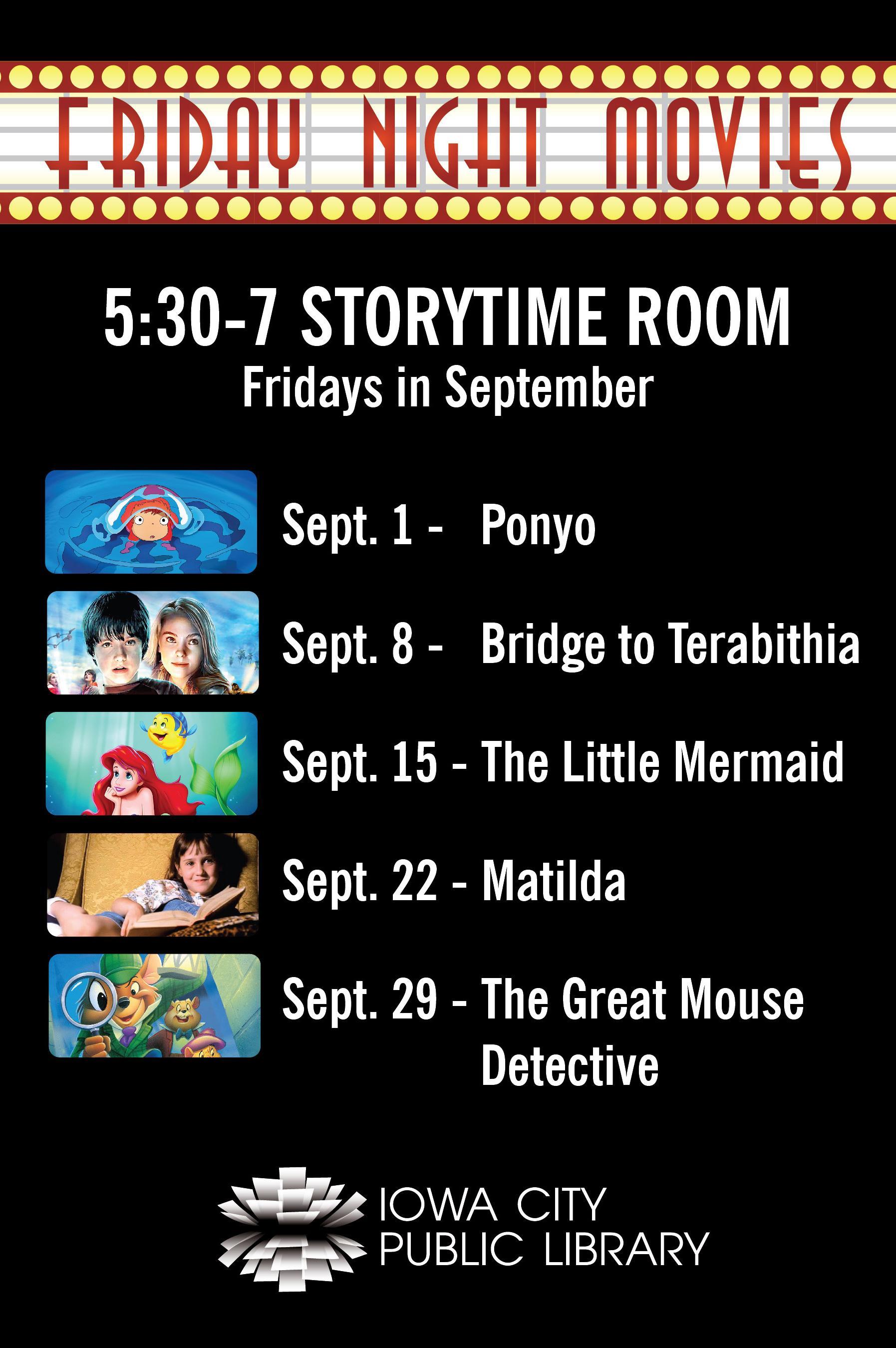 Friday Night Movies (Sept. 2017)