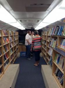 Inside the Scott County Library System bookmobile