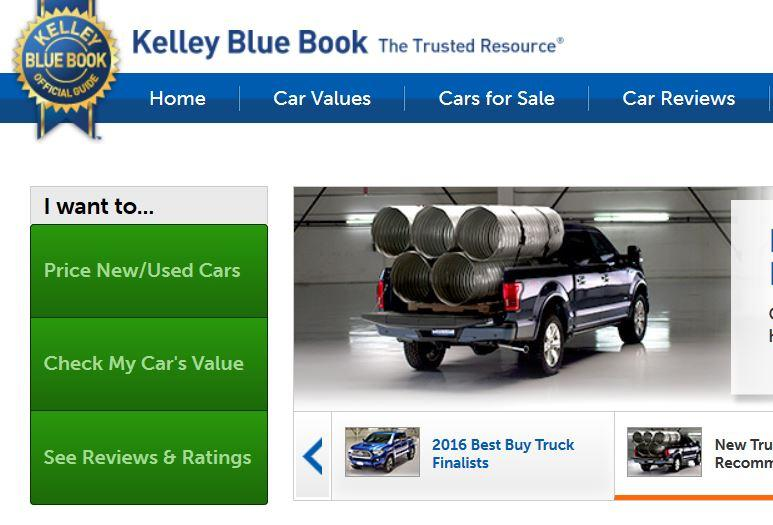 The Kelly Blue Book Website Can Be Used To Find Price Of A New Or Car Check Value Your Own See Reviews And Ratings