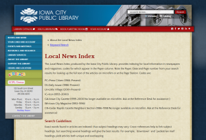 Local News Index