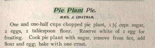 Pie Plant