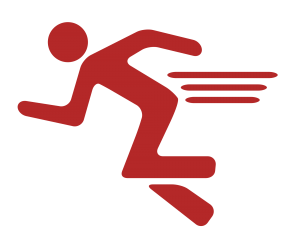 Running icon by Dillon Arloff, from The Noun Project (retouched).