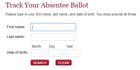 Information needed to track your absentee ballot