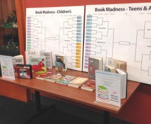 You can find the 2014 Book Madness brackets on the Library's first floor. Voting begins Thursday, March 20!