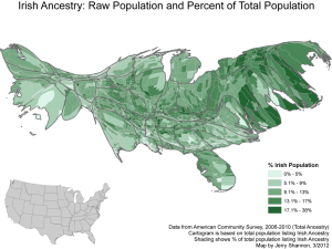 cartogram irish whale