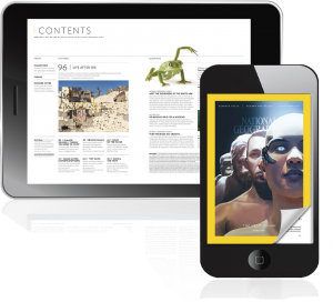 Digital magazines on iDevice