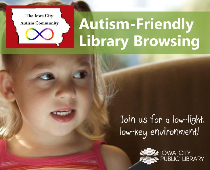 Image result for autism accessible browsing iowa city public library
