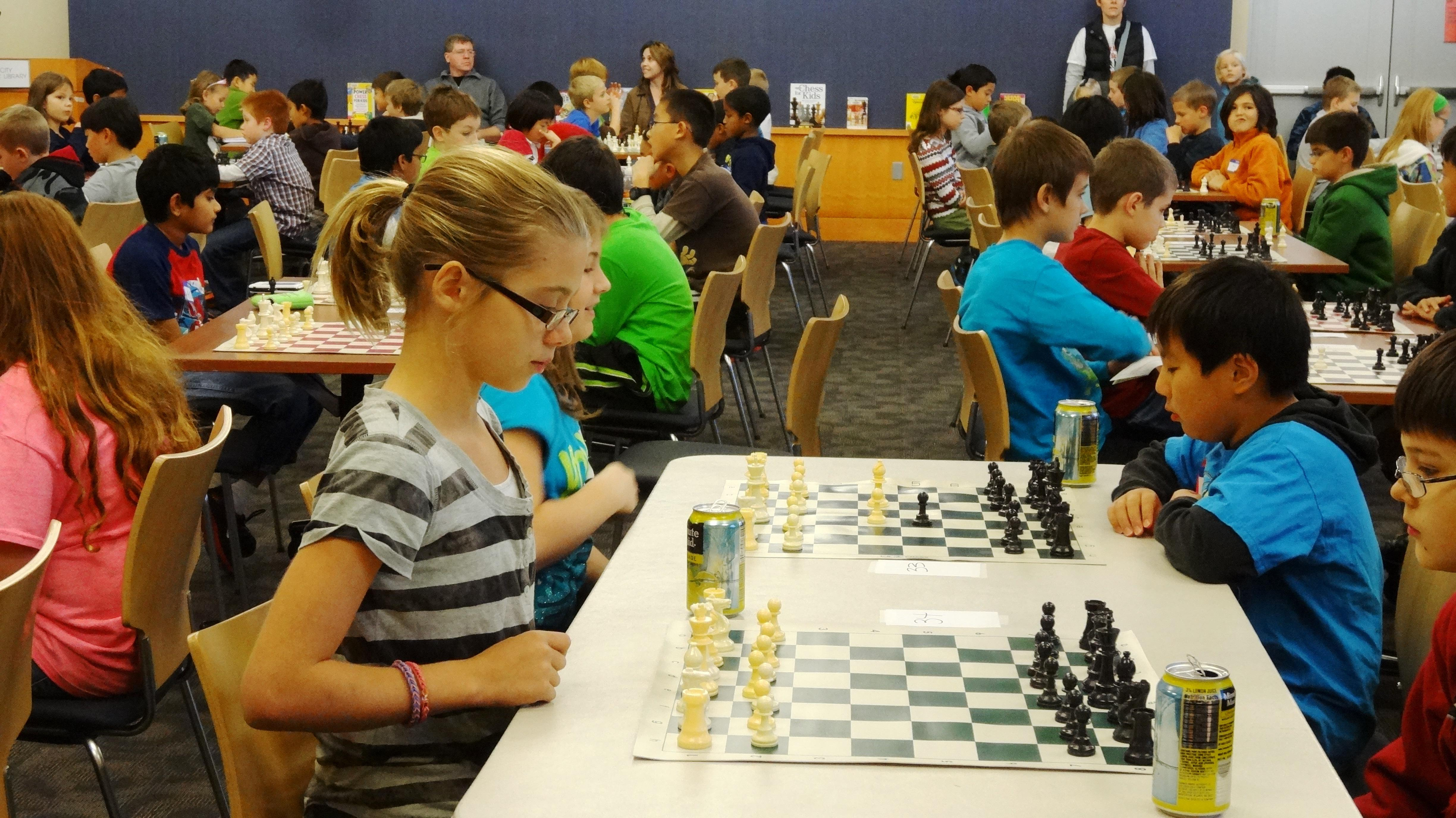 children playing chess
