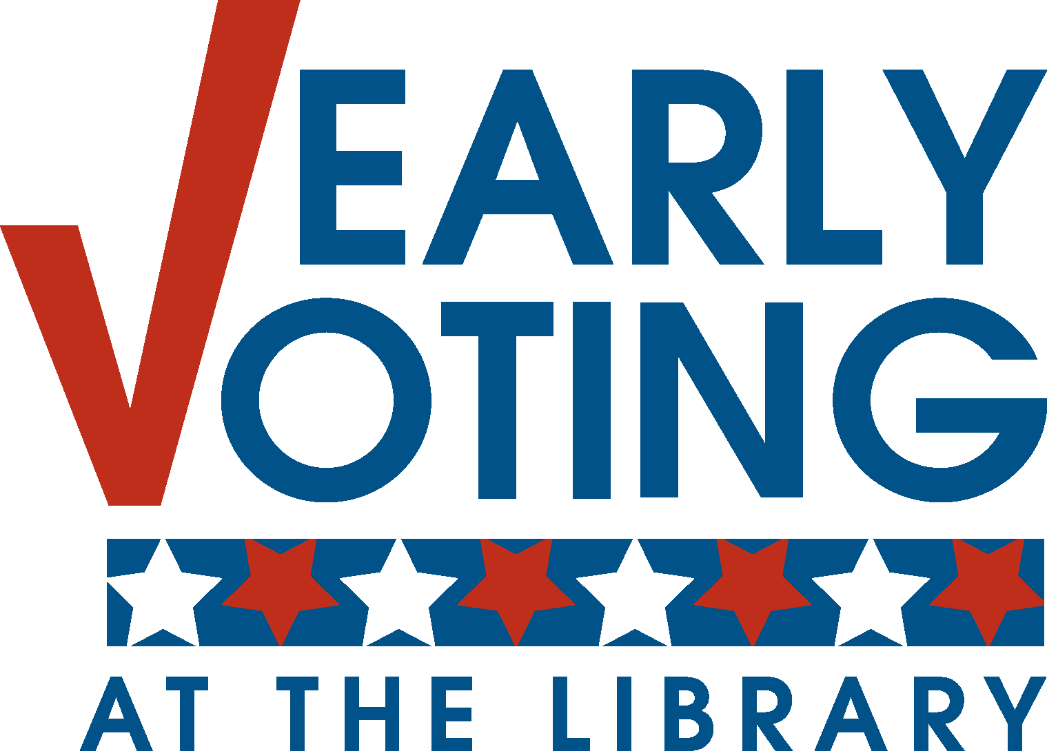 Early voting at the Library Logo