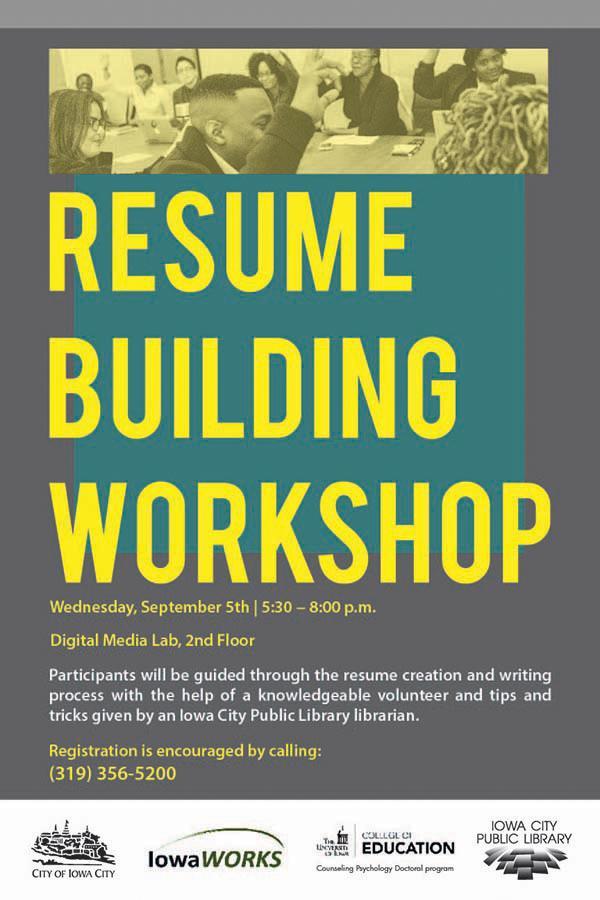 Resume Building Workshop Iowa City Public Library