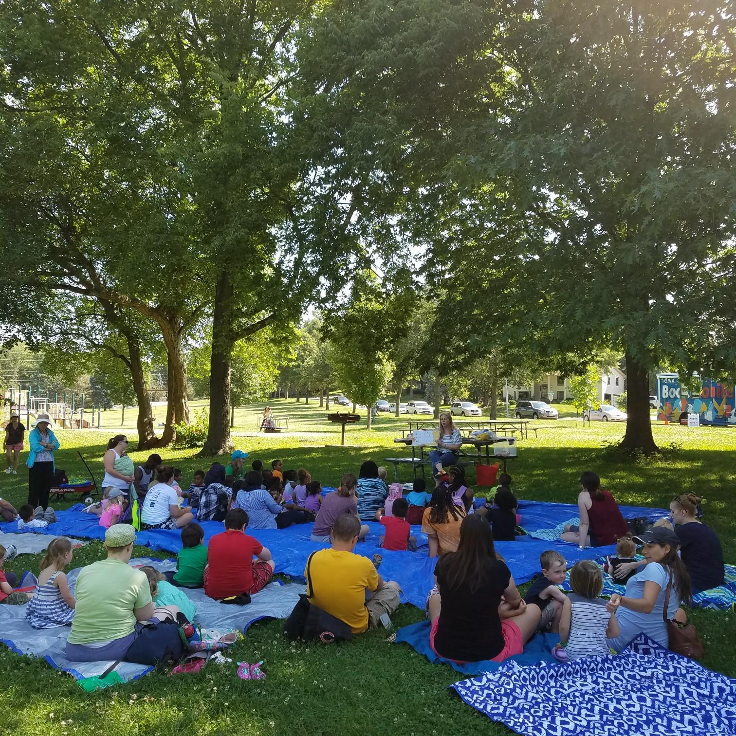 Stories in the Park at Mercer | Iowa City Public Library