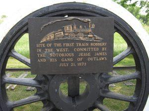 Plaque mounted on train wheel