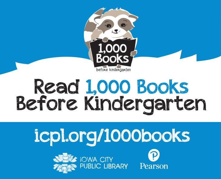 1,000 Books Before Kindergarten encourages all families and caregivers to read one thousand books with their children before they begin kindergarten.