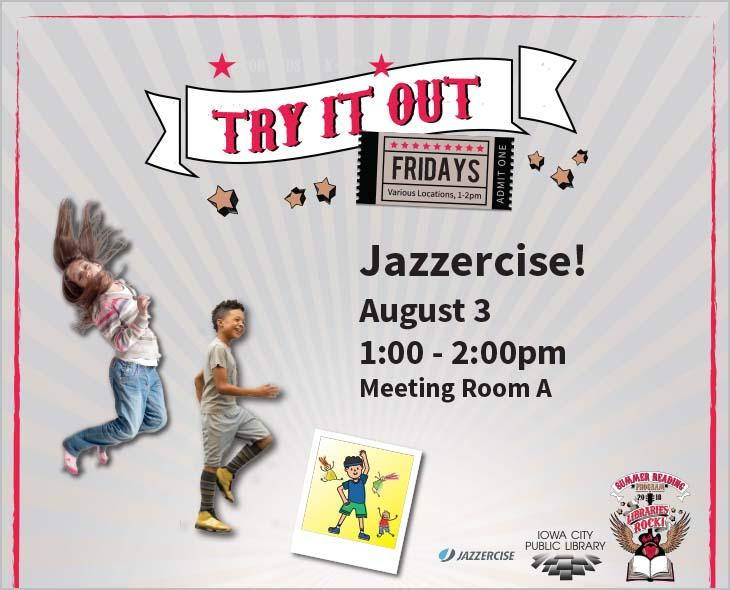 Join Ashley from Iowa City Jazzercise Fitness Center for a pulse-pounding, beat-thumping dance party workout!
