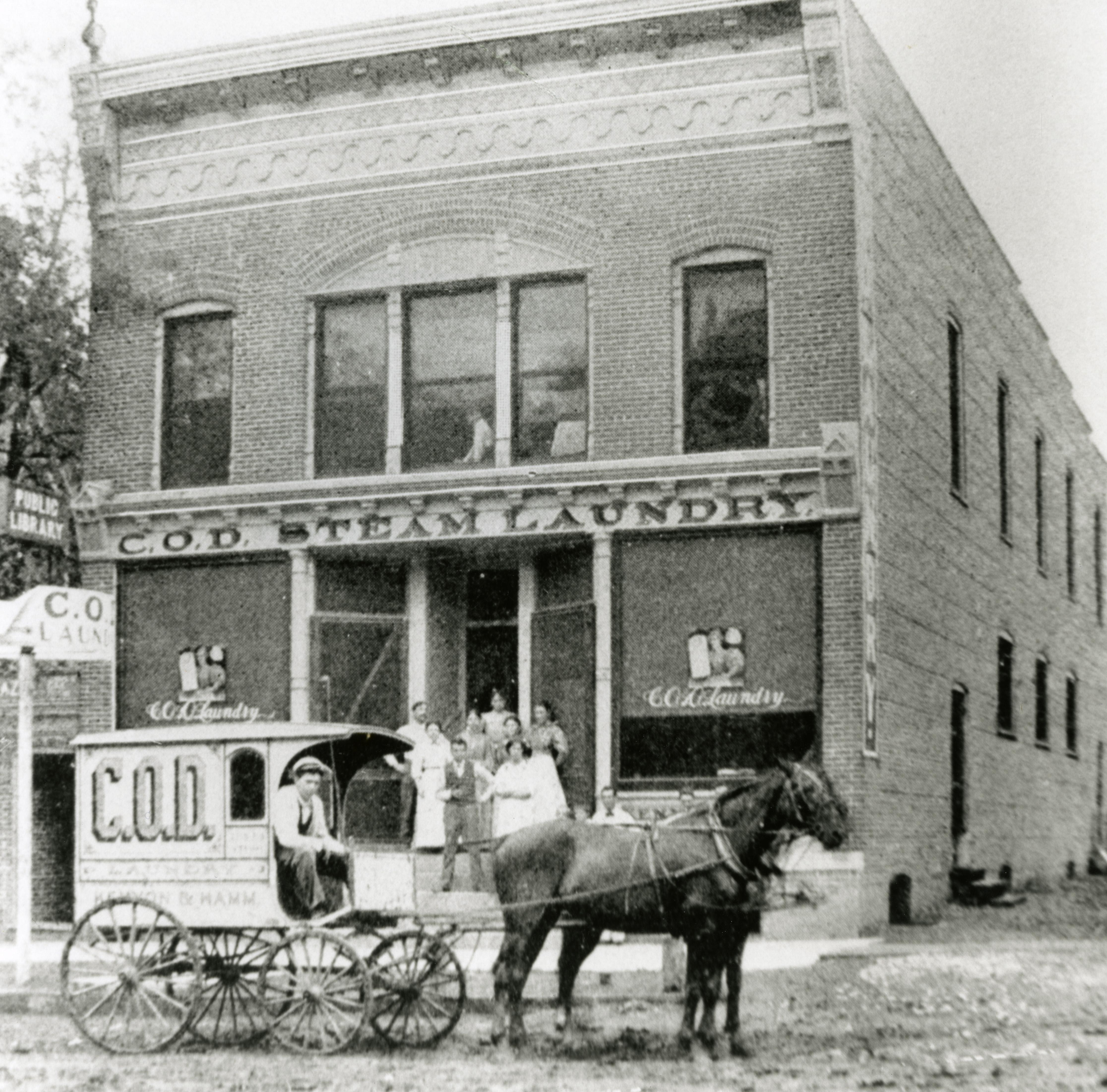 First location of the Iowa City Public Library, the C.O.D. Steam building