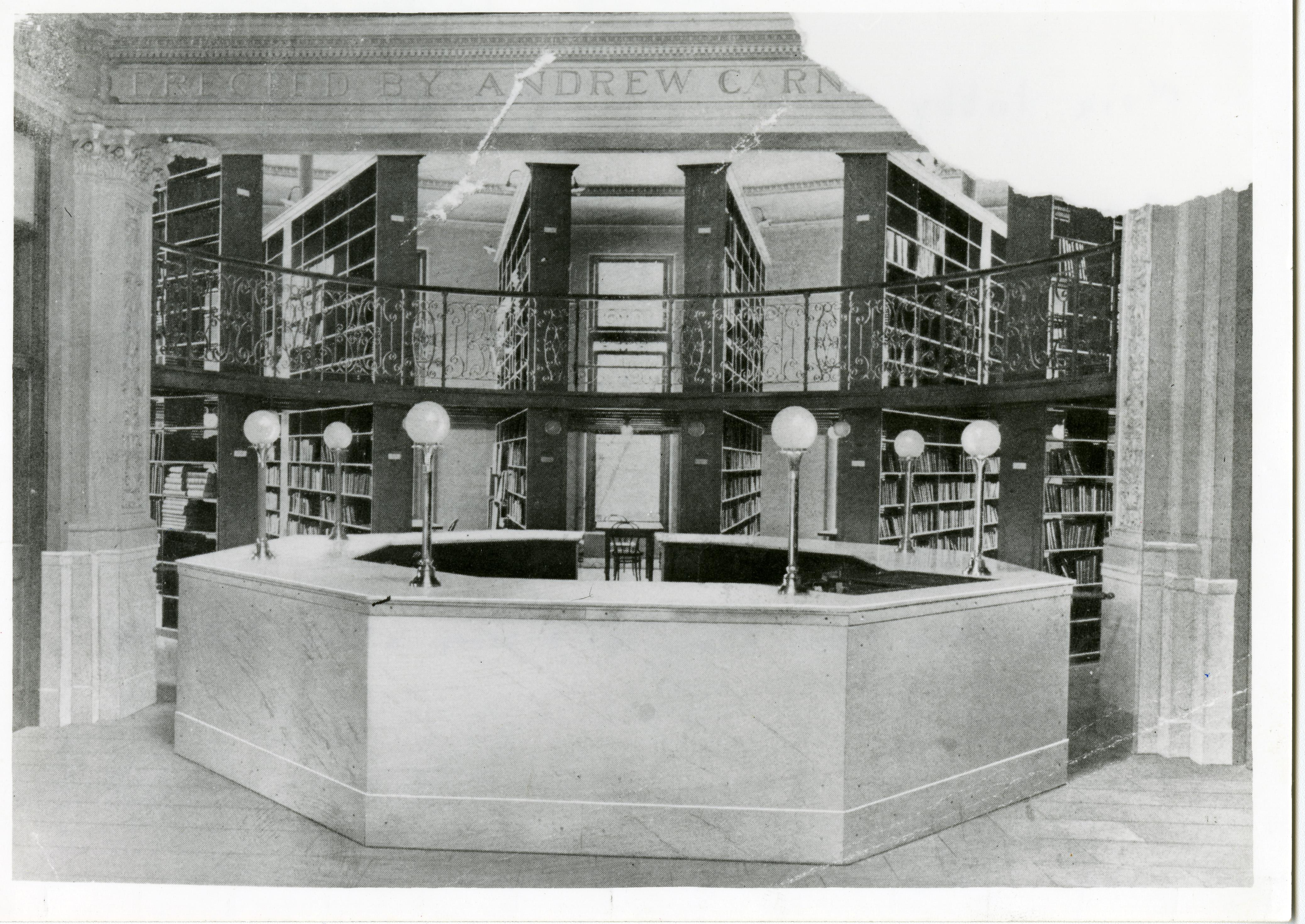 Interior view of completed building