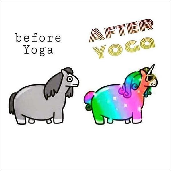 before and after yoga