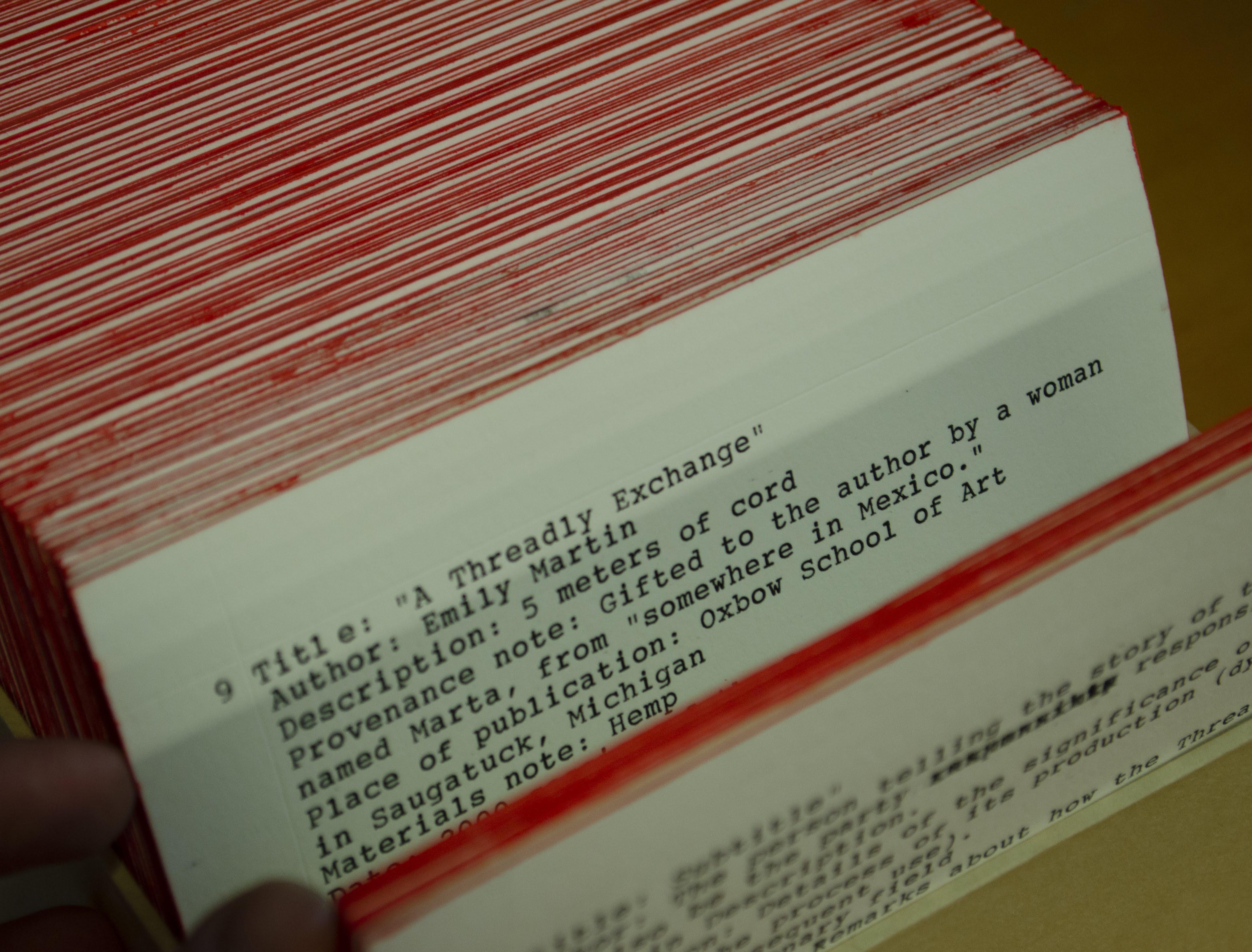 catalog card for thread