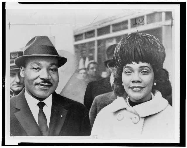 Dr. & Mrs. Martin Luther King Jr., head-and-shoulders portrait
