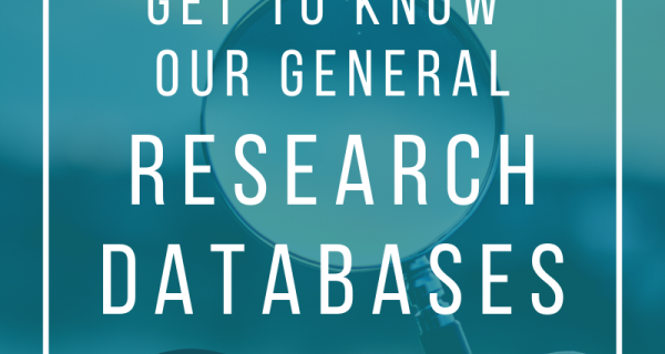 Get to know our general research databases