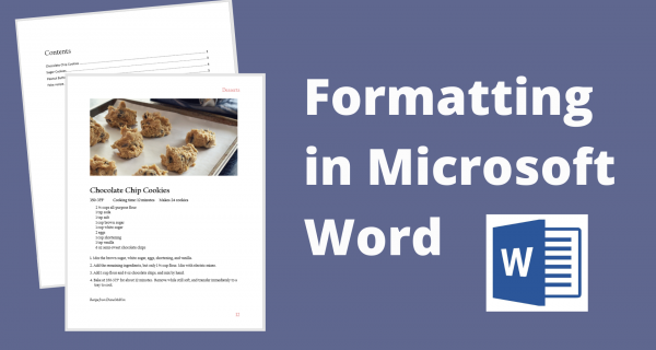 Formatting in Microsoft Word