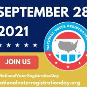 National Voter Registration Day graphic