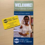 ICPL library card and brochure