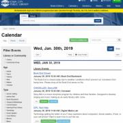 Screenshot of new calendar